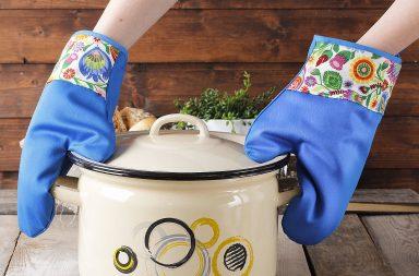 Rękawice kuchenne - silikonowe, neoprenowe, długie