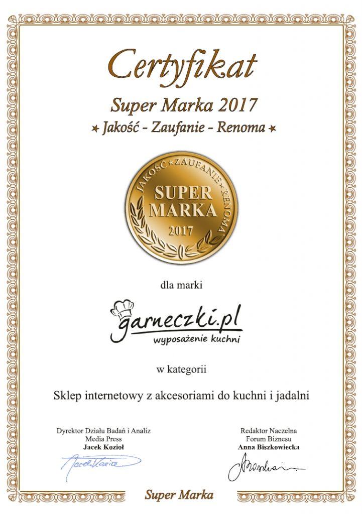 Certyfikat Super Marka 2017