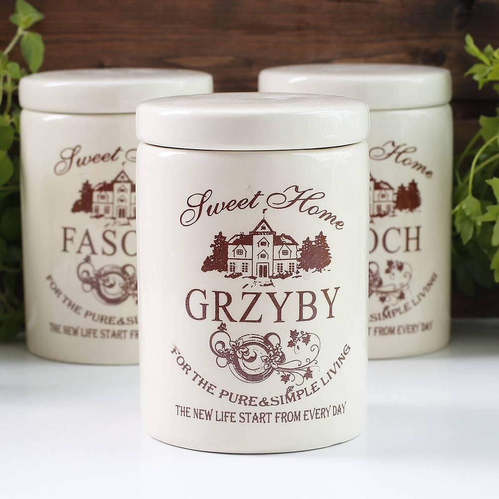 Pojemnik ceramiczny na grzyby Sweet Home