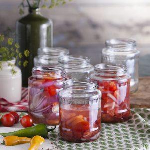 Słoiki na przetwory szklane Owoce