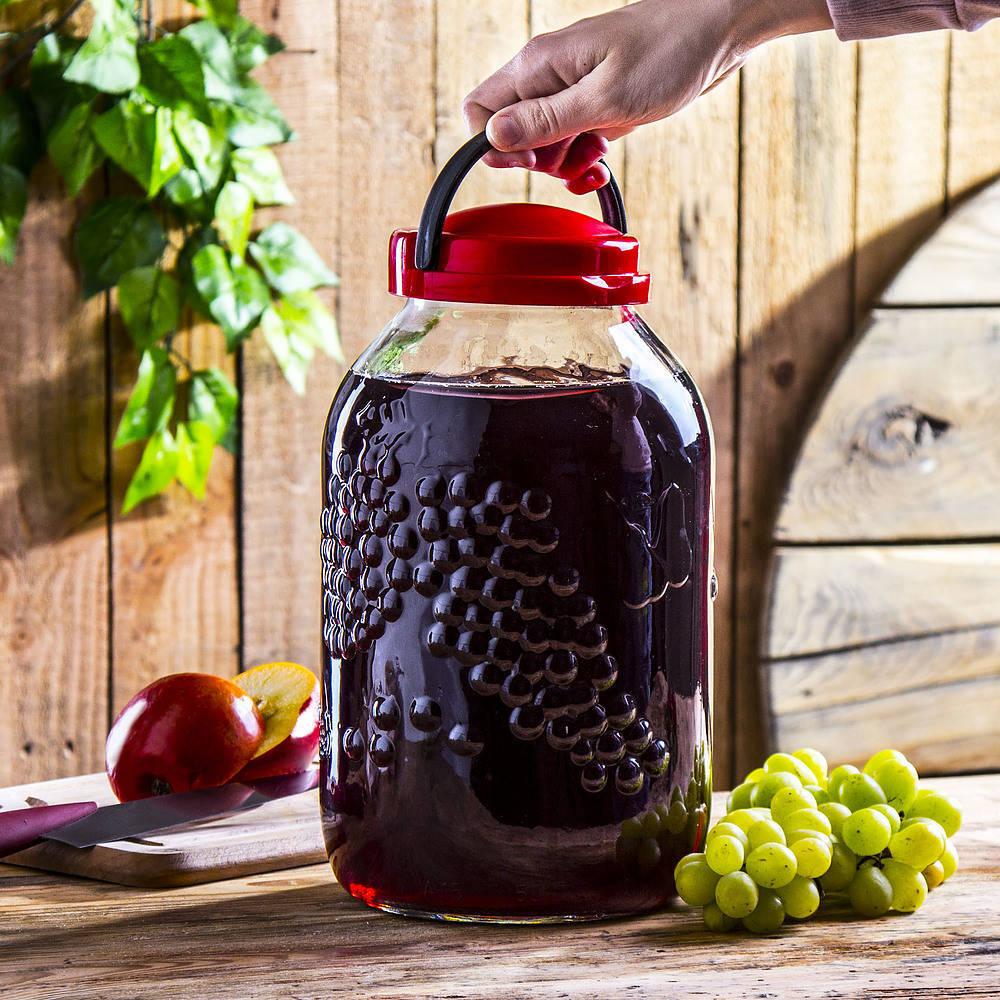 Słój na nalewki Winogrona