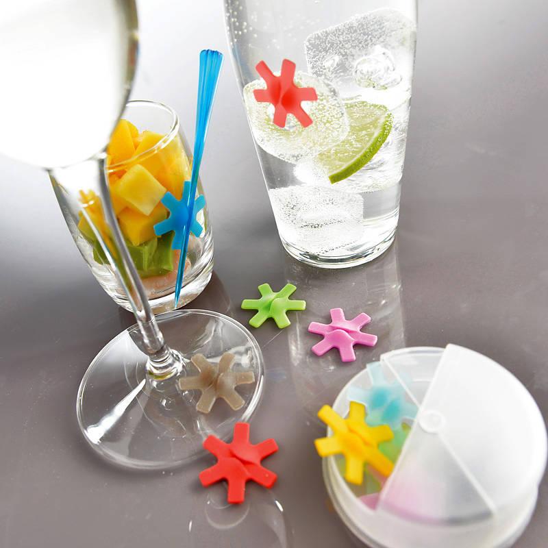 Znaczniki do szklanek i kieliszków silikonowe