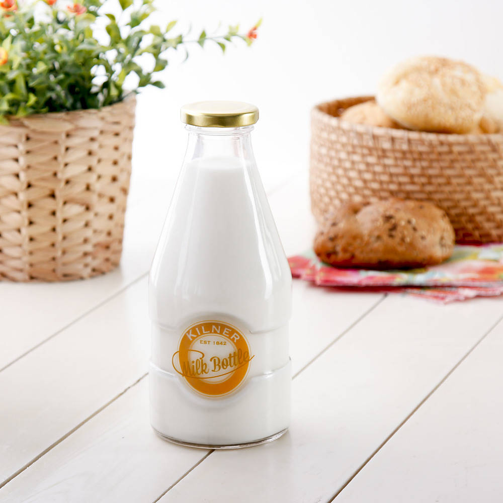 butelka szklana na mleko kilner
