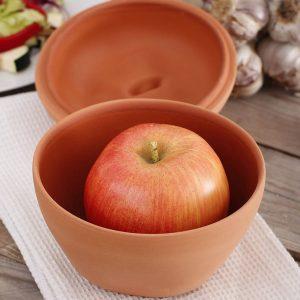 Gliniane naczynie do pieczenia jabłek Romertopf