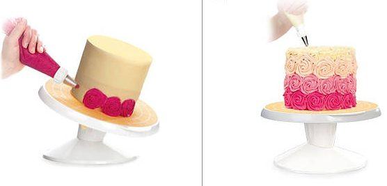Patera obrotowa do dekoracji tortów