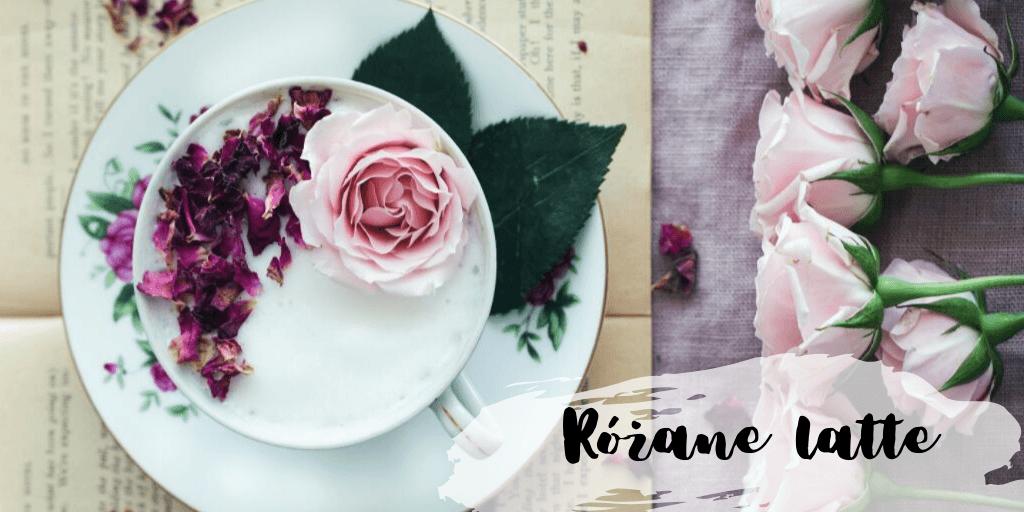 Różane latte - przepis