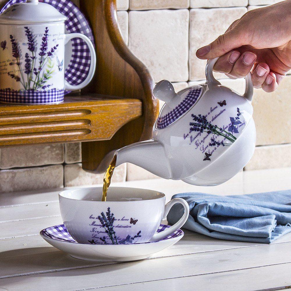 Dzbanek do herbaty z filiżanką