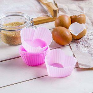 Foremki silikonowe do muffinek Serduszka