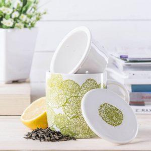 Kubek z zaparzaczem porcelanowym Ambition Herbal