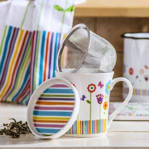 Kubek z zaparzaczem do herbaty Crazy Daisy