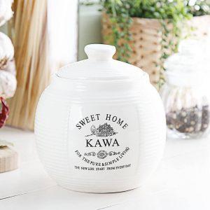 Pojemnik ceramiczny na kawę Sweet Home Paski