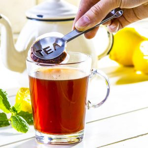 Szczypce stalowe do herbaty ekspresowej