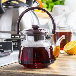 Szklany dzbanek z sitkiem do parzenia herbaty Windsor