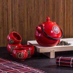 Zestaw do parzenia herbaty ceramiczny Azja