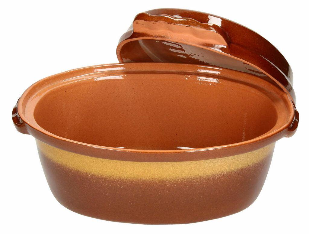 Brytfanna ceramiczna glazurowana