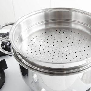 Garczek do gotowania na parze ze stali nierdzewnej Frabosk Set Vapore