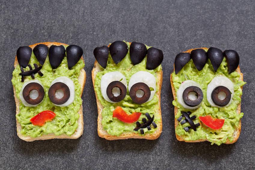 Straszne kanapki na Halloween