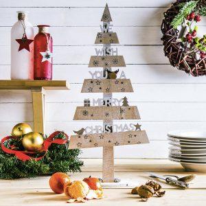 Choinka drewniana Merry Christmas
