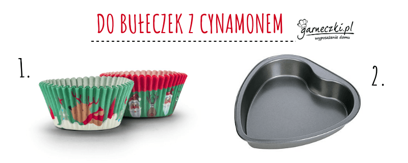 Akcesoria do bułeczek z cynamonem