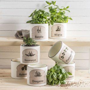 Doniczki ceramiczne do ziół