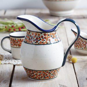 Dzbanek ceramiczny na wodę Bolesławiec