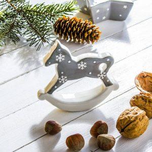 Figurka świąteczna ceramiczna Konik