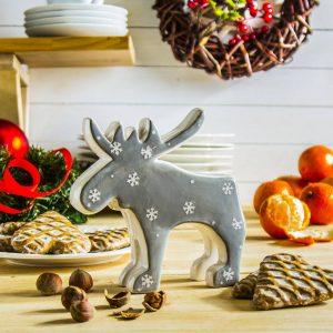 Figurka świąteczna ceramiczna