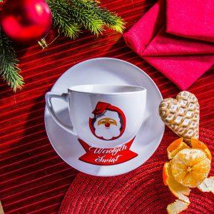 Filiżanka ze spodkiem do kawy i herbaty Mikołaj