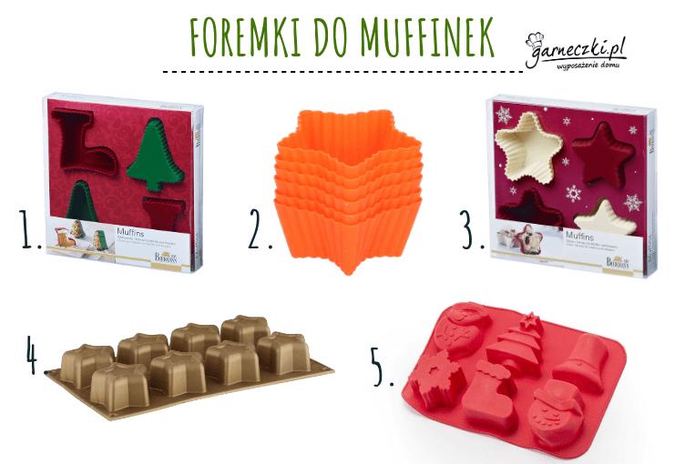 Foremki świąteczne do pieczenia babeczek i muffinek