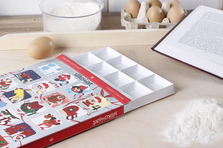 Kalendarz adwentowy na czekoladki Silikomart
