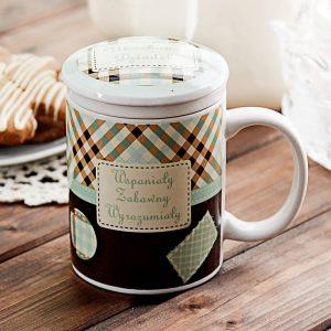 Kubek ceramiczny dla dziadka z zaparzaczem