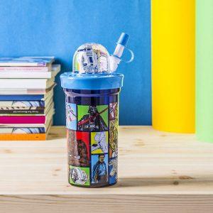 Kubek dla dziecka plastikowy ze słomką Disney Star Wars