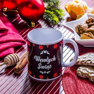 Kubek świąteczny magiczny Wesołych Świąt