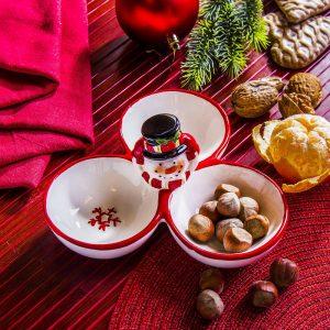 Miseczka świąteczna do przekąsek Bałwan