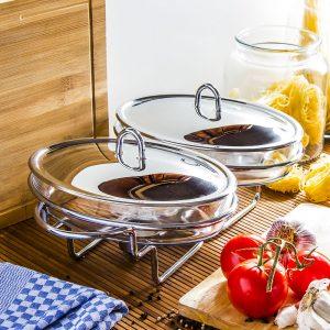 Szklane naczynie z podgrzewaczem Odelo Simple