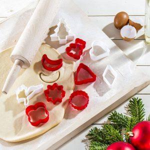 Plastikowe wykrawacze do ciastek i pierniczków Boże Narodzenie