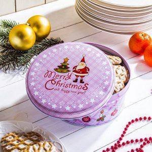 Puszka świąteczna na ciastka i pierniki Gwiazdor