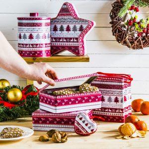 Puszka świąteczna an ciastka i pierniki Sweterek