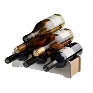 Stojak na wino drewniany Vintage