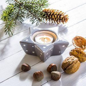 świecznik świąteczny tealight gwiazda