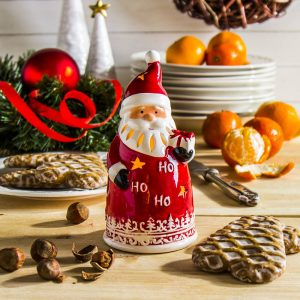 Świecznik tealight ceramiczny Mikołaj