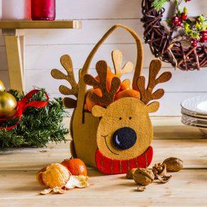 Torebka świąteczna filcowa renifer