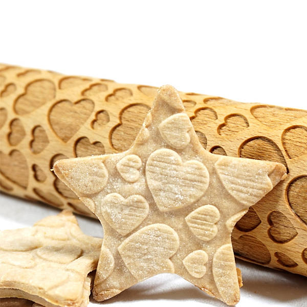 Wałęk dekoracyjny do ciasta drewniany stodola