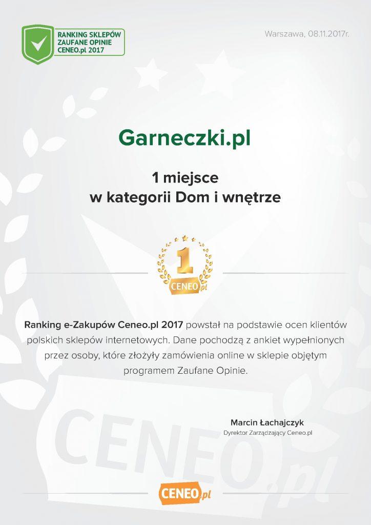 Garneczki - dyplom Ceneo