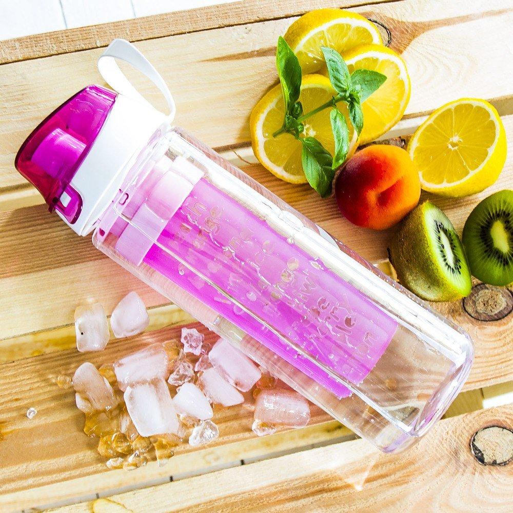 Butelka na wodę z wkładem na owoce i lód