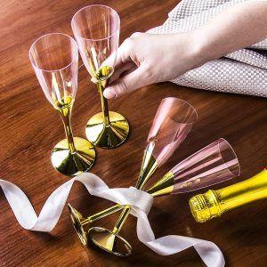 Kieliszki do szampana plastikowe Rio