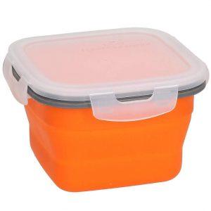 Lunch box silikonowy pomarańczowy