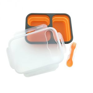 Lunch box silikonowy składany Adler