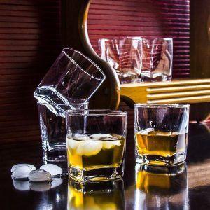 Szklanki do whisky szklane Florina
