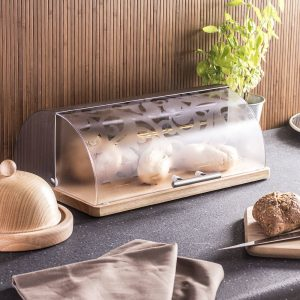 Chlebak ze stali nierdzewnej z pokrywą